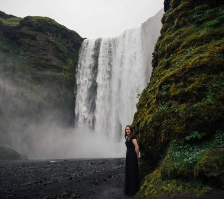 Iceland Wedding Photography at Skogafoss
